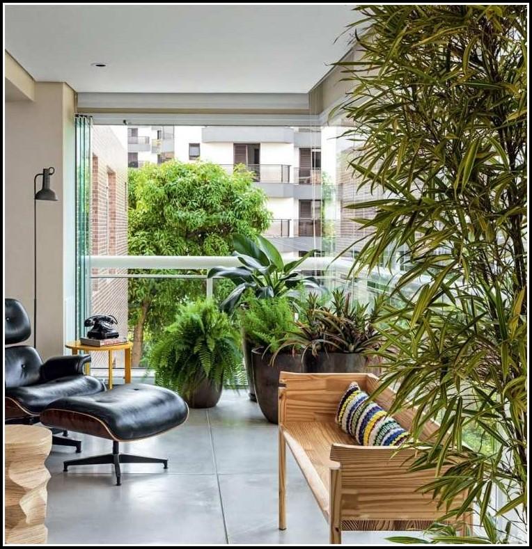 Balkon Sichtschutz Bambus Natur