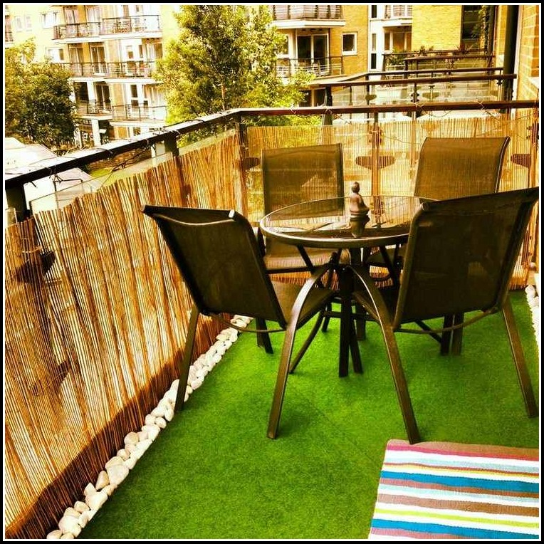 Balkon Sichtschutz Bambus Toom