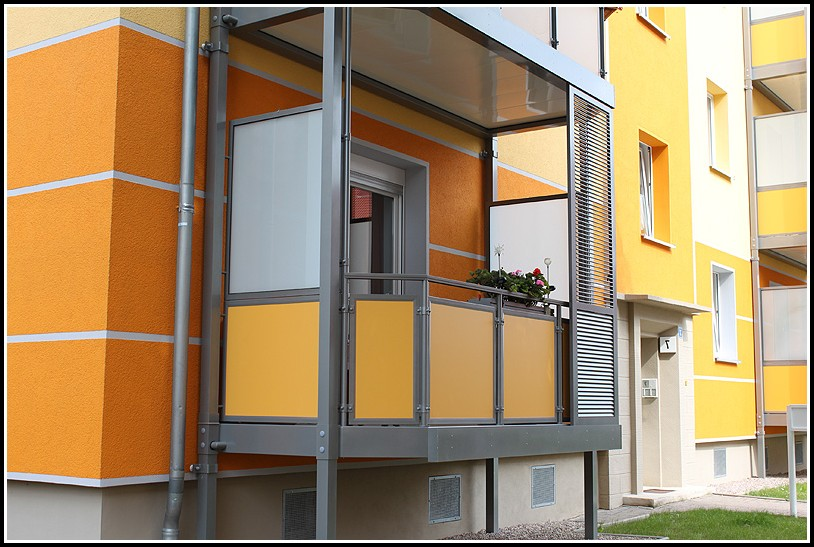 Balkon Sichtschutz Glas Hamburg