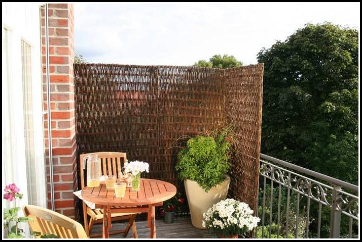 Balkon Sichtschutz Holz Praktiker