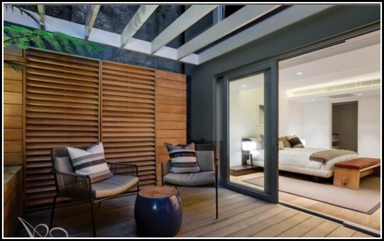 Balkon Sichtschutz Holz Weiss