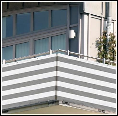 Balkon Sichtschutz Kunststoff Grau