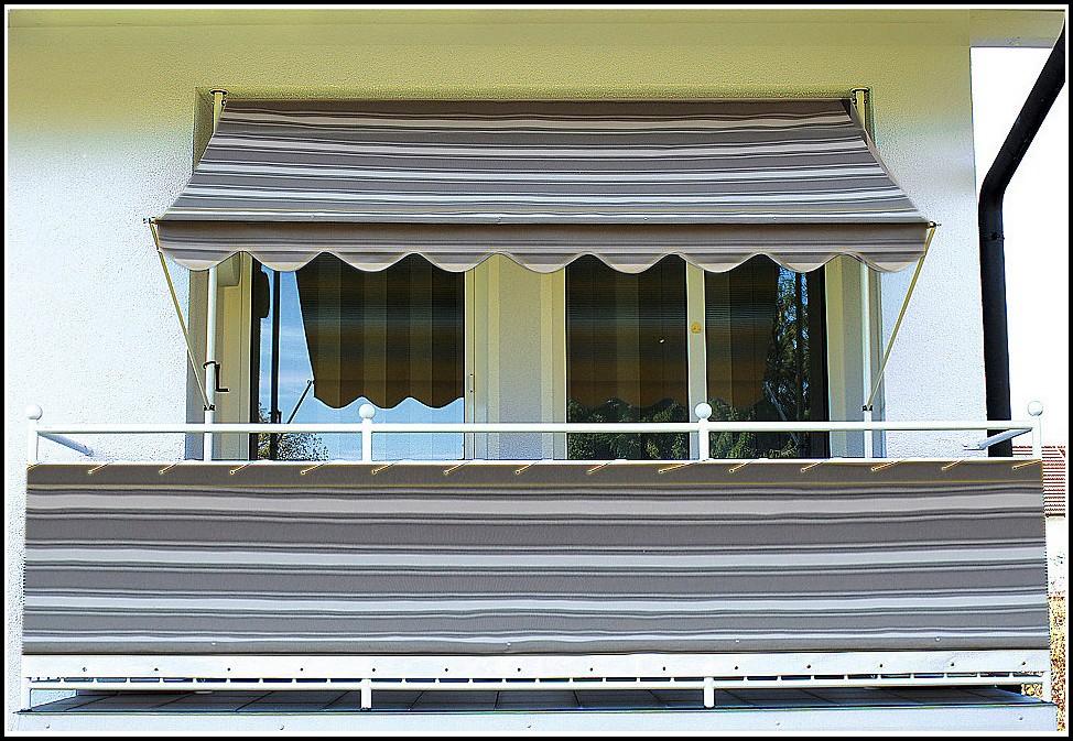 Balkon Sichtschutz Meterware Grau