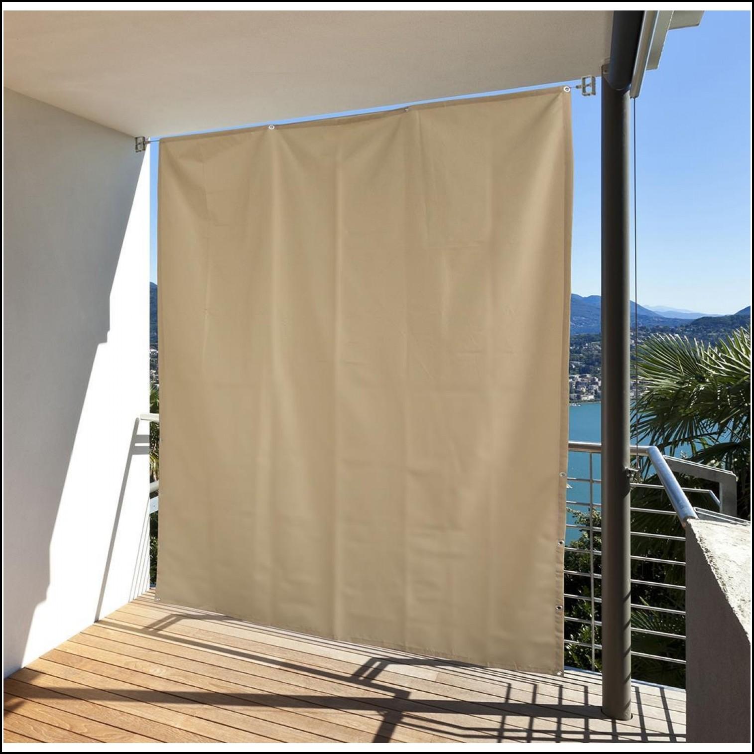 Balkon Sichtschutz Seitlich Fächer