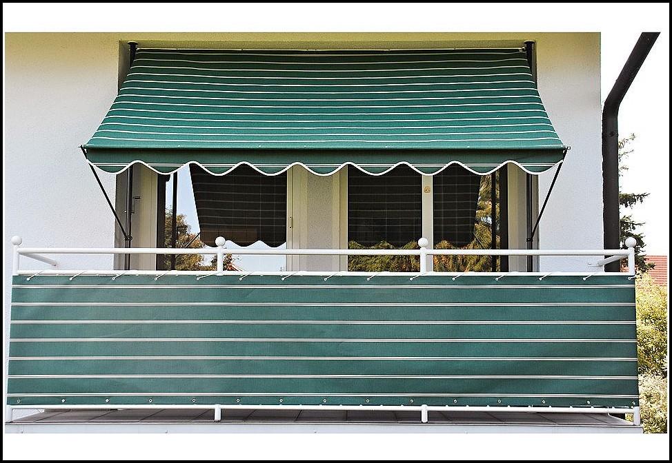 Balkon Sichtschutz Weiß Kunststoff