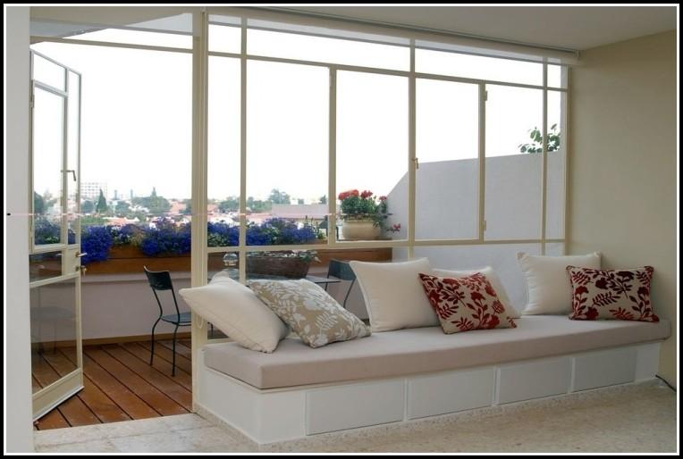 Balkon Sichtschutz Weiß Meterware
