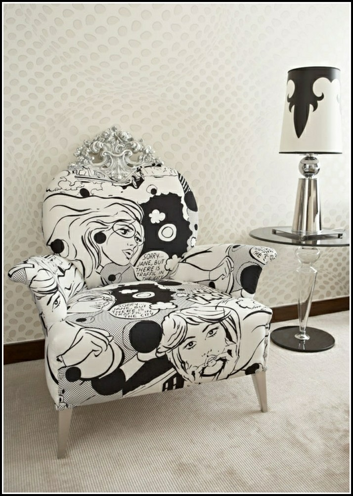 Barock Sessel Schwarz Weiß