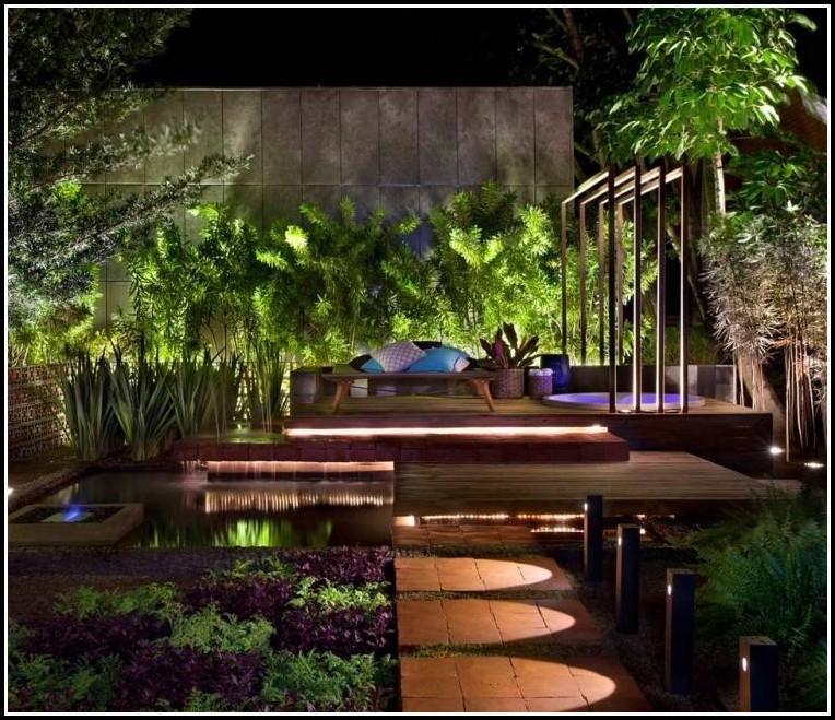Beleuchtung Im Gartenteich