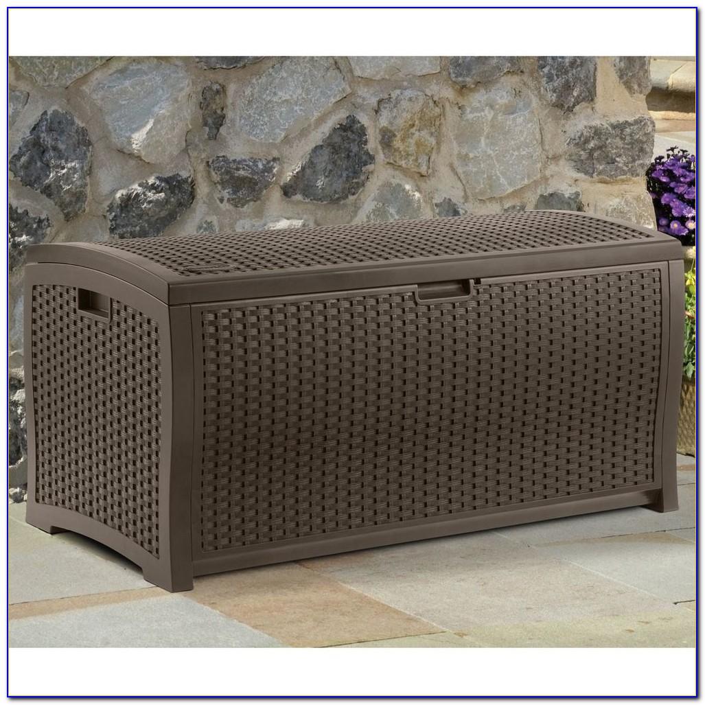 Bench With Wicker Storage Baskets