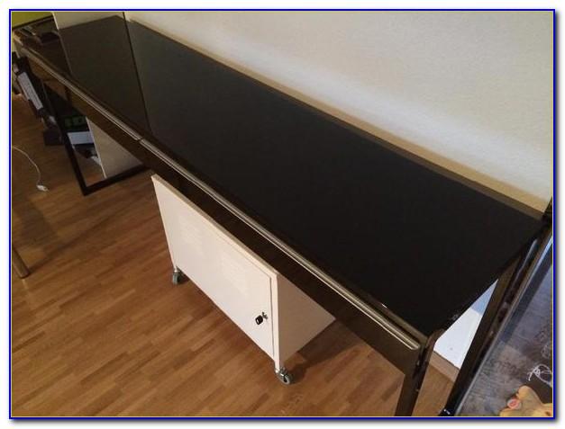 Besta Schreibtisch Schwarzbraun