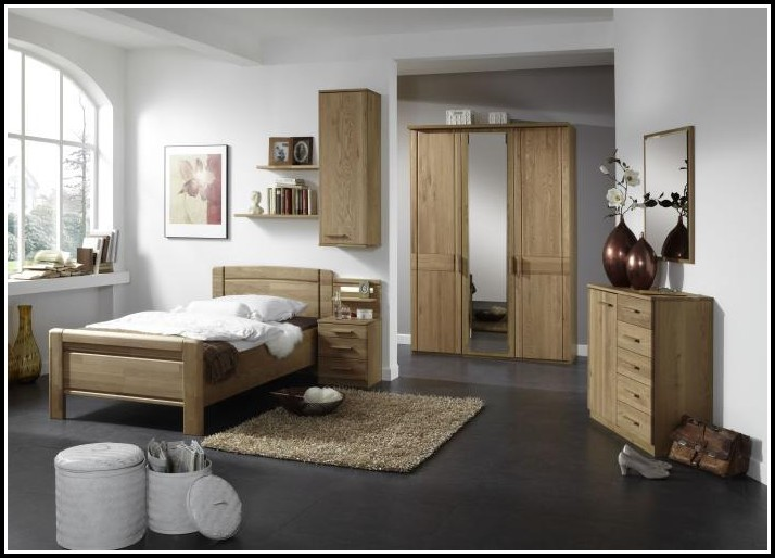 Bett 100×200 Echtholz