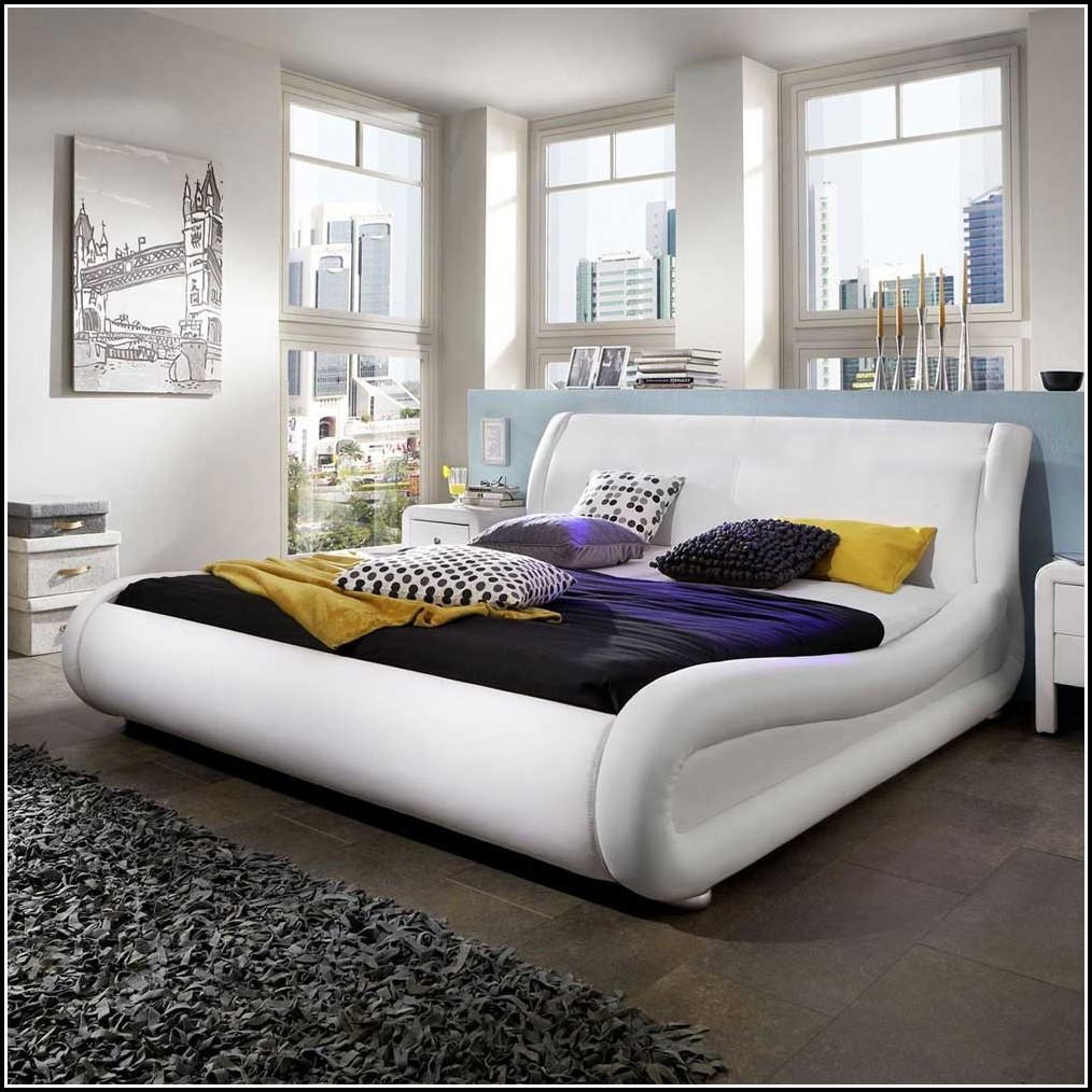 Bett 120×200 Weiß Hochglanz