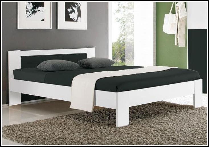 Bett 120×200 Weiß Leder