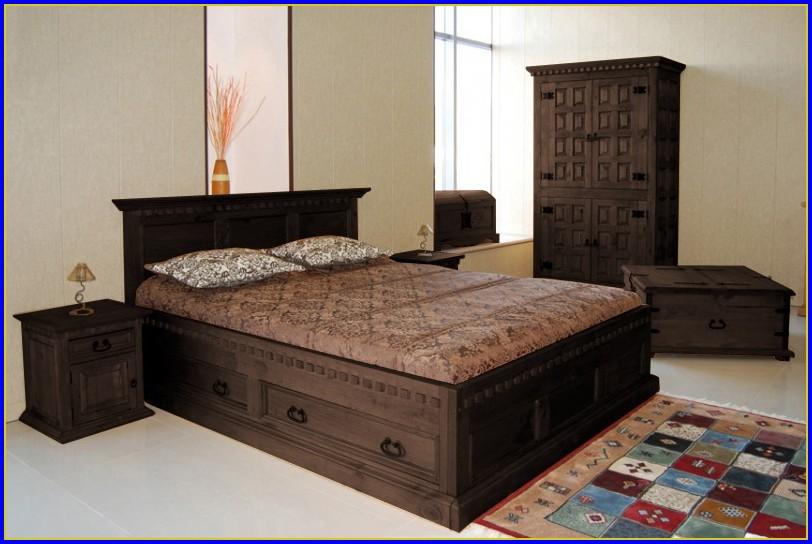 Bett 140 Weiß Holz