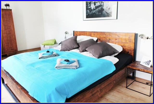 Bett 140×200 Holz Weiß