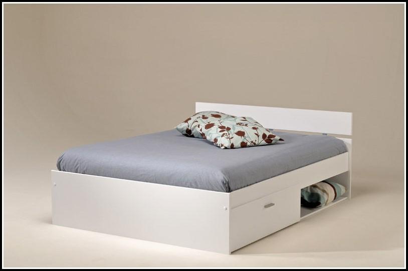Bett 140×200 Mit Bettkasten Weiß