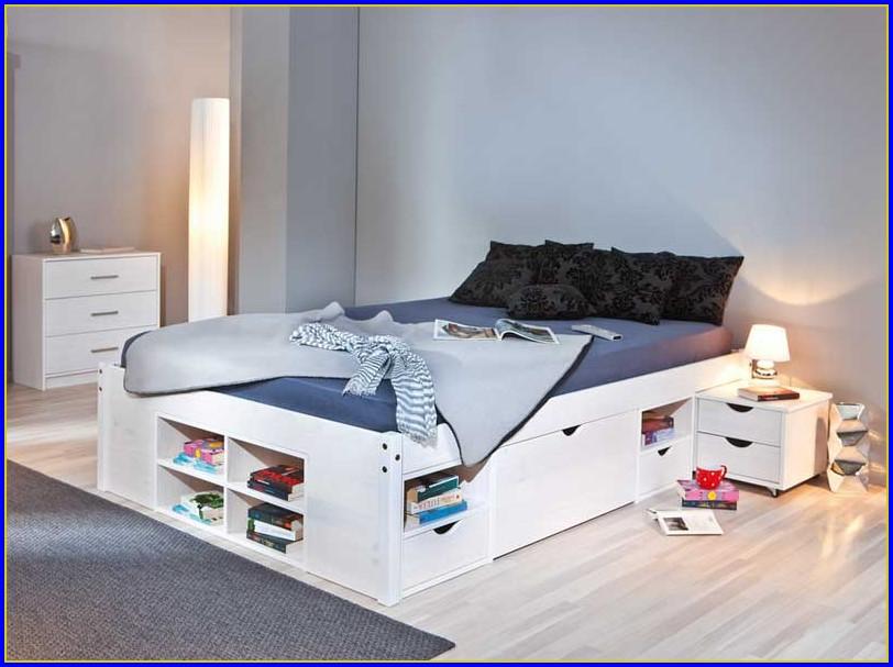Bett 140×200 Weiß Holz