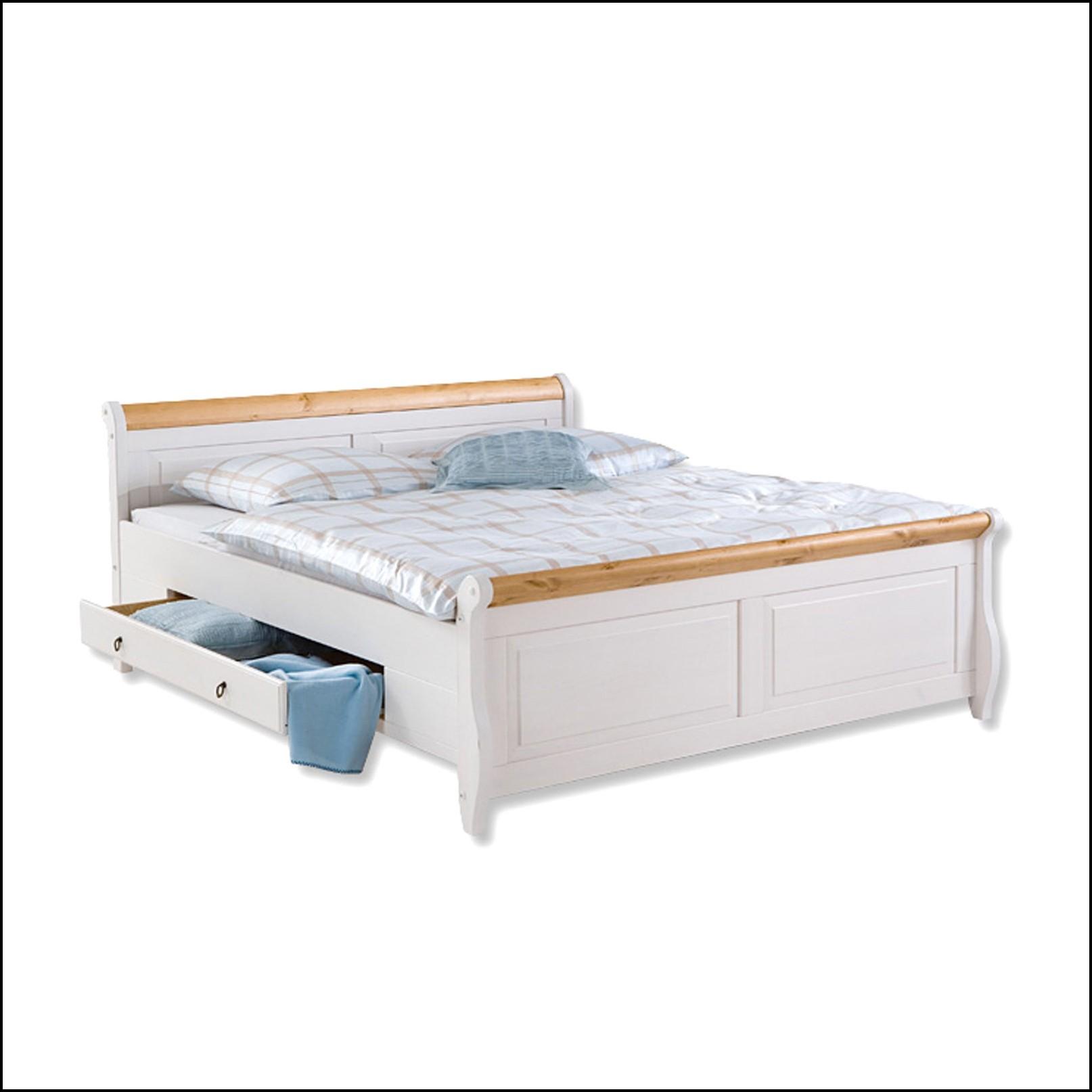 Bett 140×200 Weiß Komplett