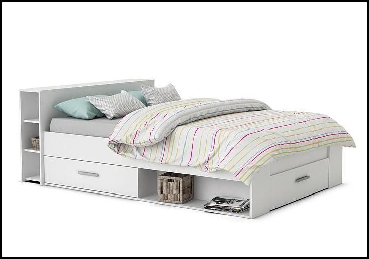 Bett 140×200 Weiss Massiv