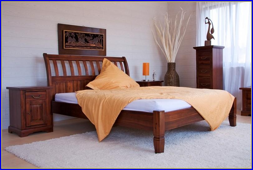 Bett 160×200 Holz Weiß