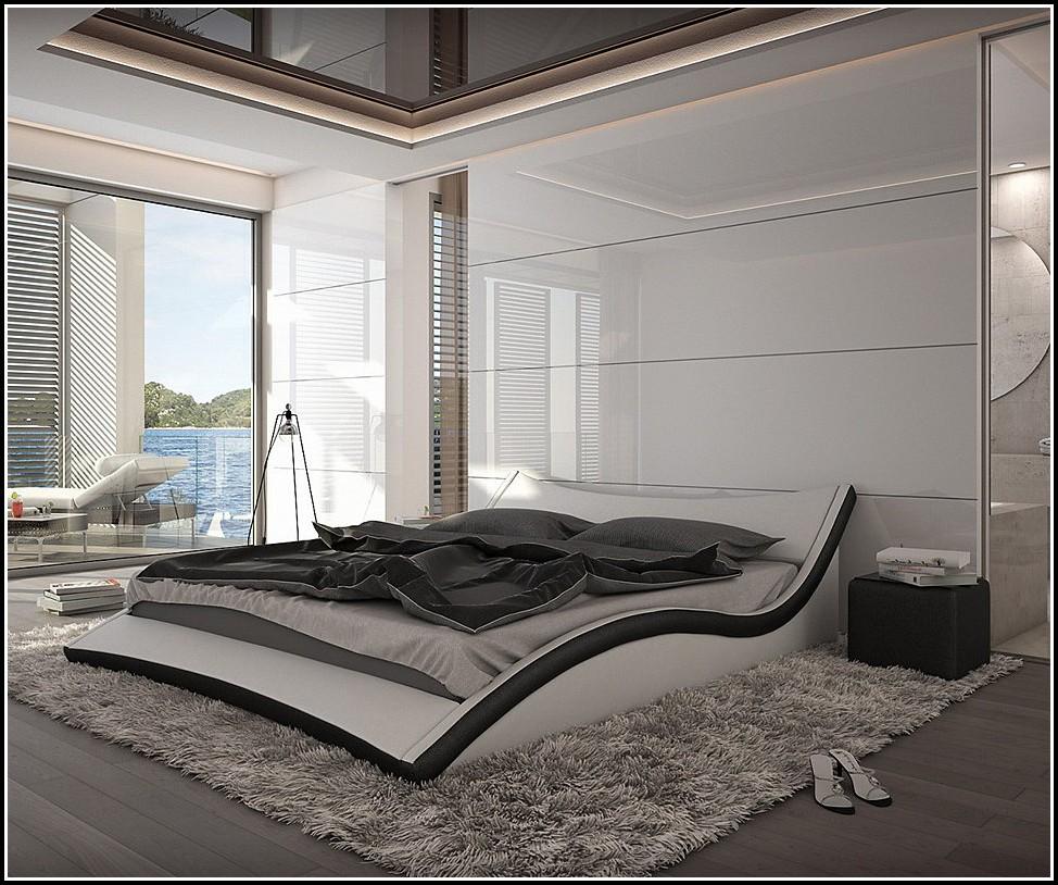 Bett 180×200 Schwarz Leder