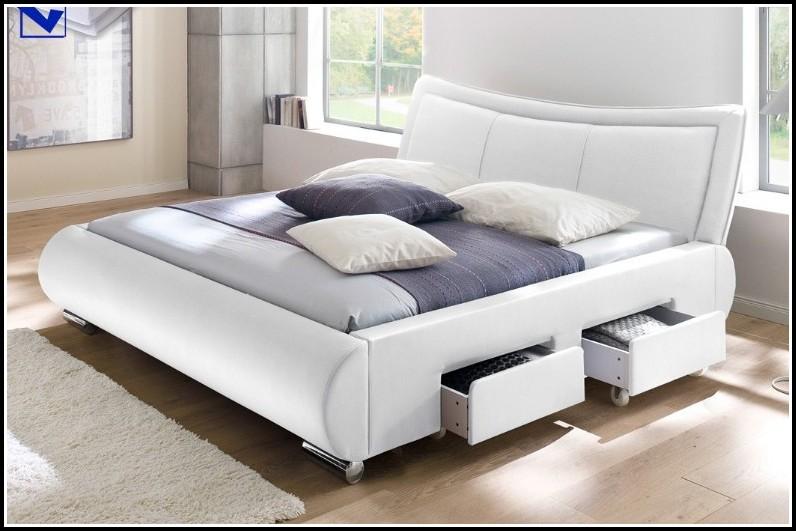 Bett 180×200 Weiß Bettkasten