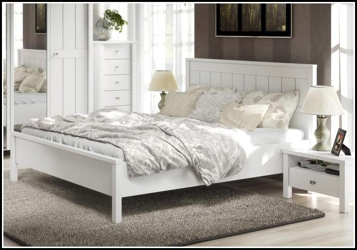 Bett 180×200 Weiß Holz
