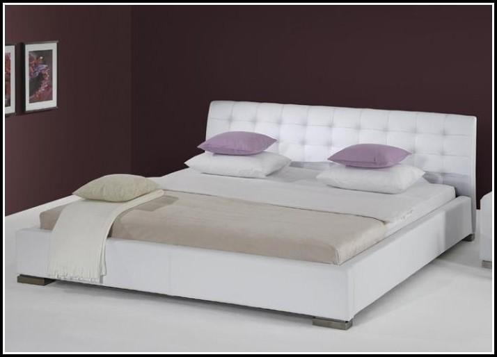 Bett 200×200 Weiß Hochglanz