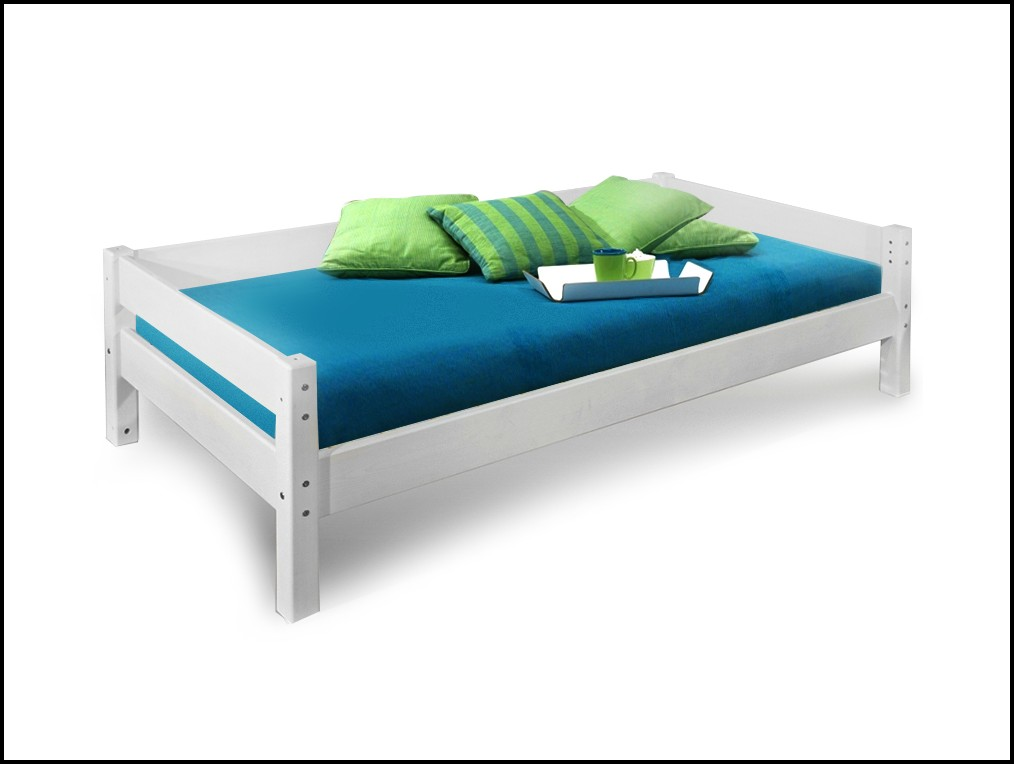 Bett 90×200 Buche Weiß