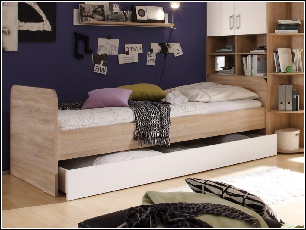 Bett 90×200 Weiß Gebraucht