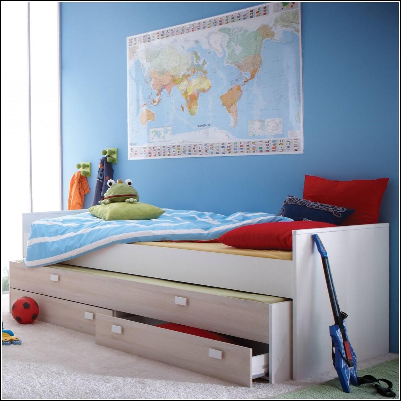 Bett 90×200 Weiß Hochglanz