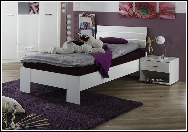 Bett 90×200 Weiß Holz