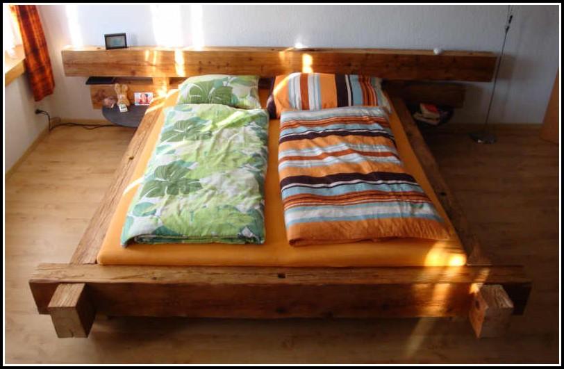 Bett Aus Holzbalken Bauen