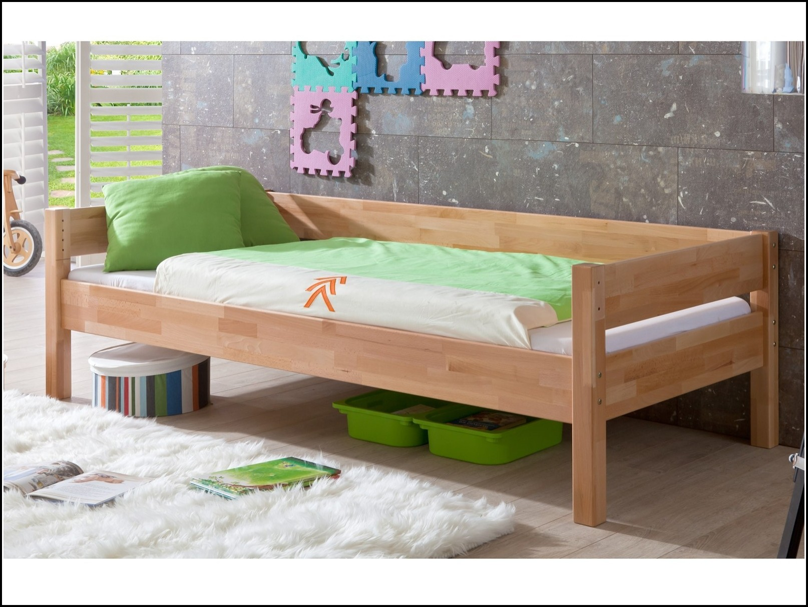 Bett Buche 90×200 Einzelbett