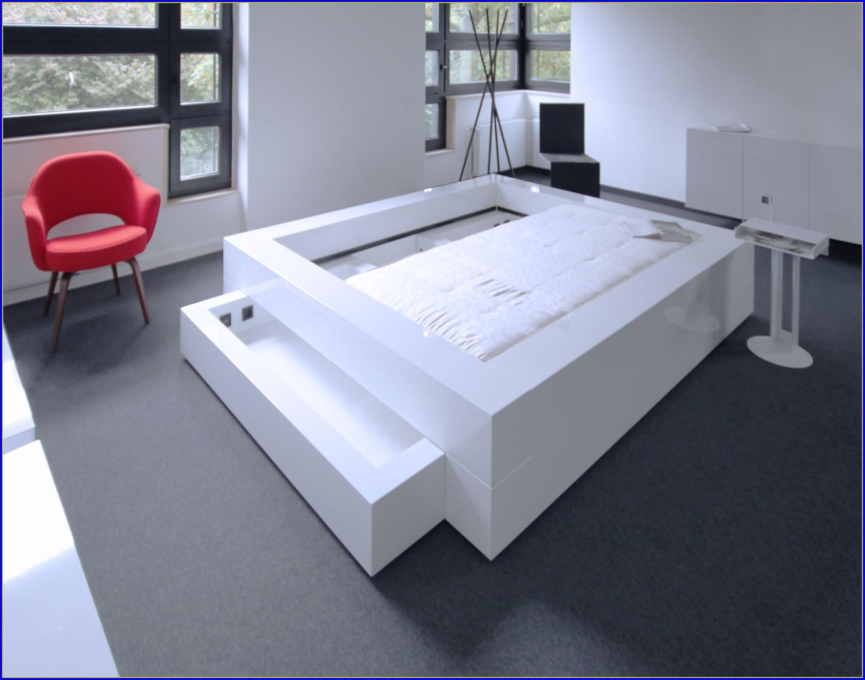 Bett Mit Bettkasten 140×200 Weiß
