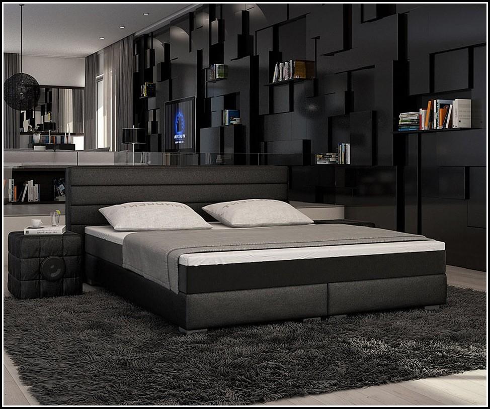Bett Mit Bettkasten 180×200 Schwarz