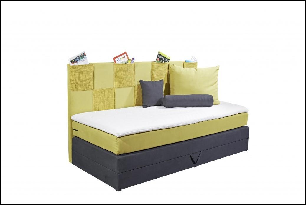 Bett Mit Bettkasten 90x200 Weiß