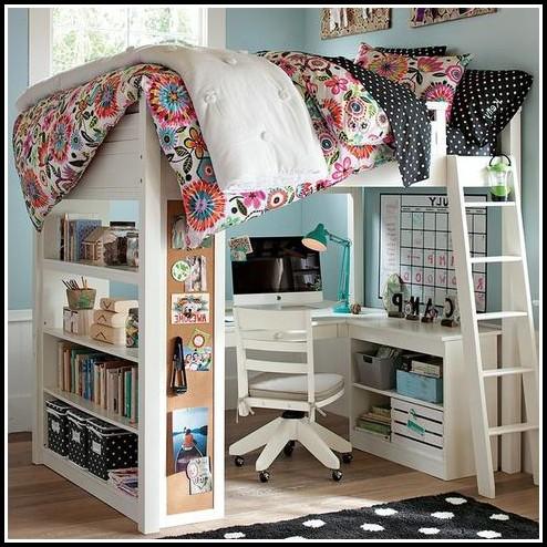 Bett Mit Schreibtisch Und Schrank