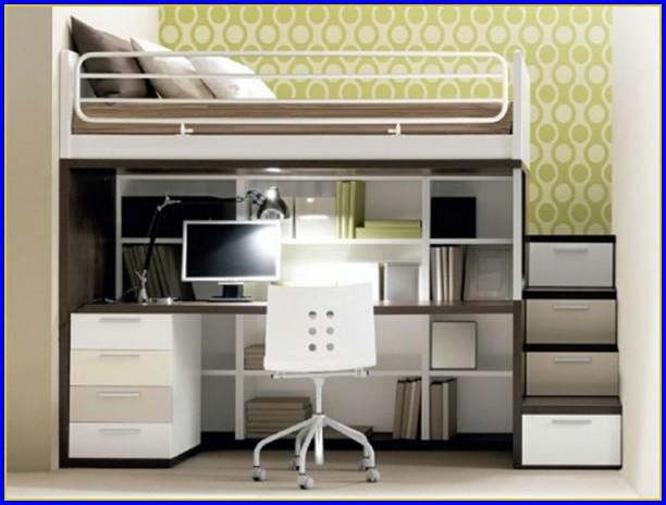 Bett Schrank Schreibtisch Kombination