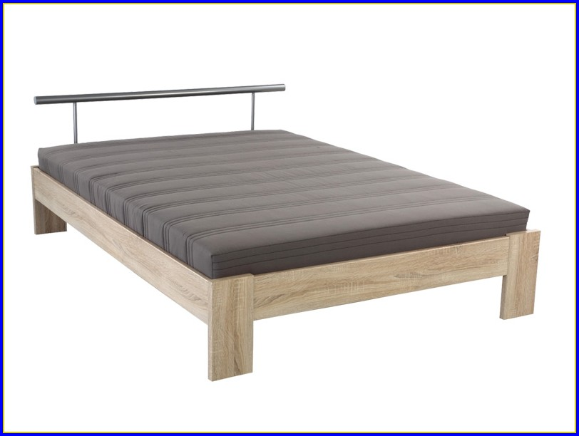 Bett Weiß 120×200 Cm