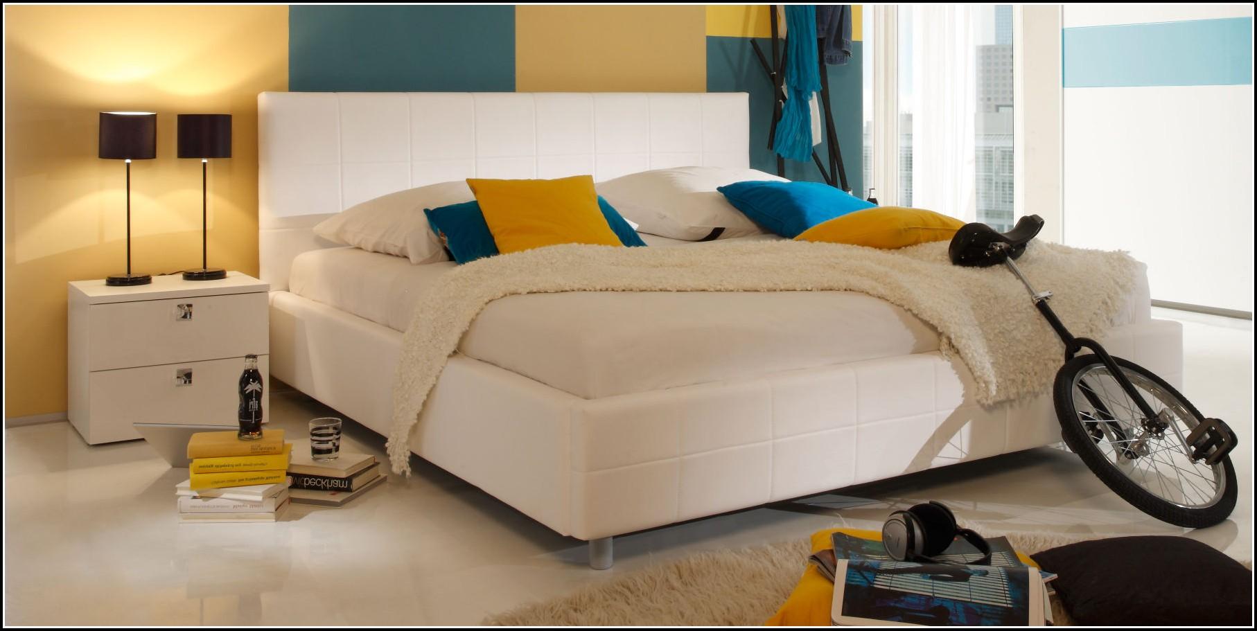 Bett Weiß 120×200 Holz