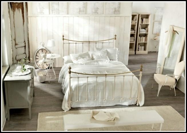 Bett Weiß 120×200 Metall