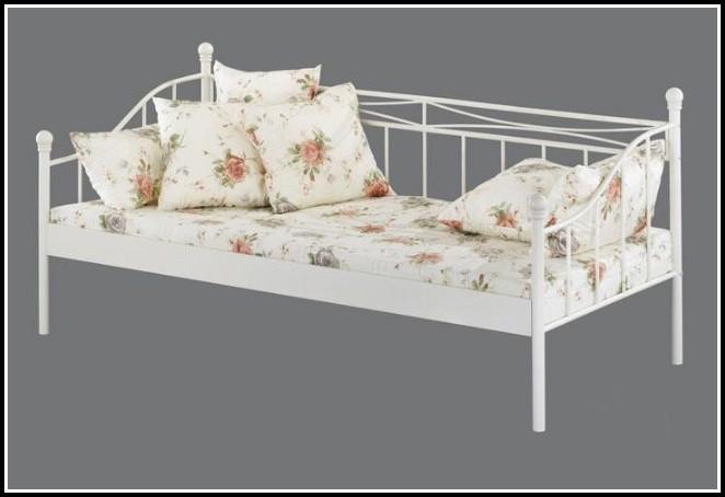 Bett Weiß 90×200 Cm