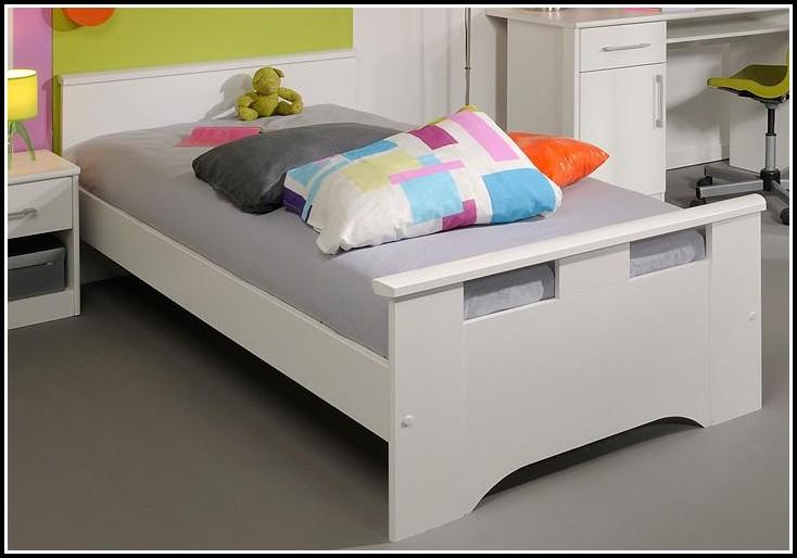 Bett Weiß 90x200 Holz