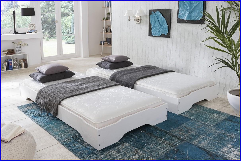 Bett Zwei Matratzen übereinander