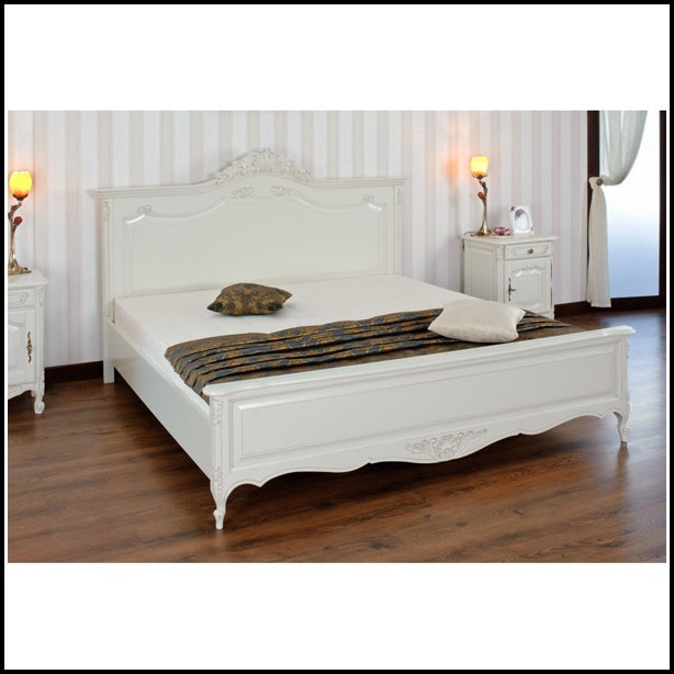 Betten Landhausstil Weiß