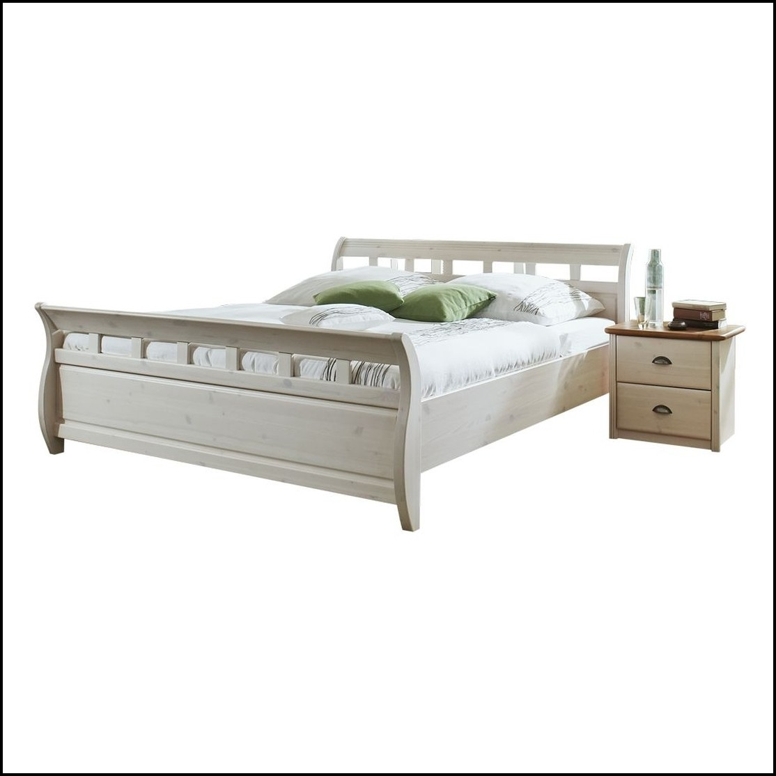 Betten Massivholz Weiß