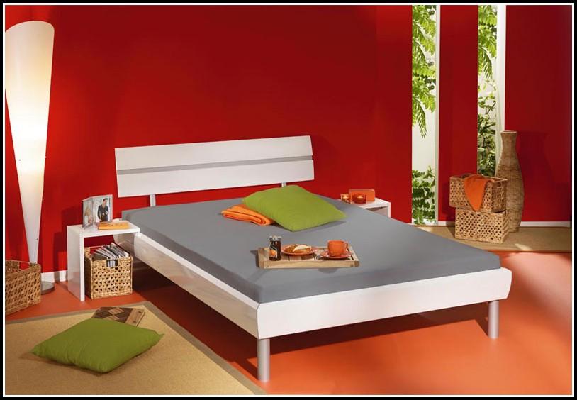 Bettgestell 140×200 Weiß Holz