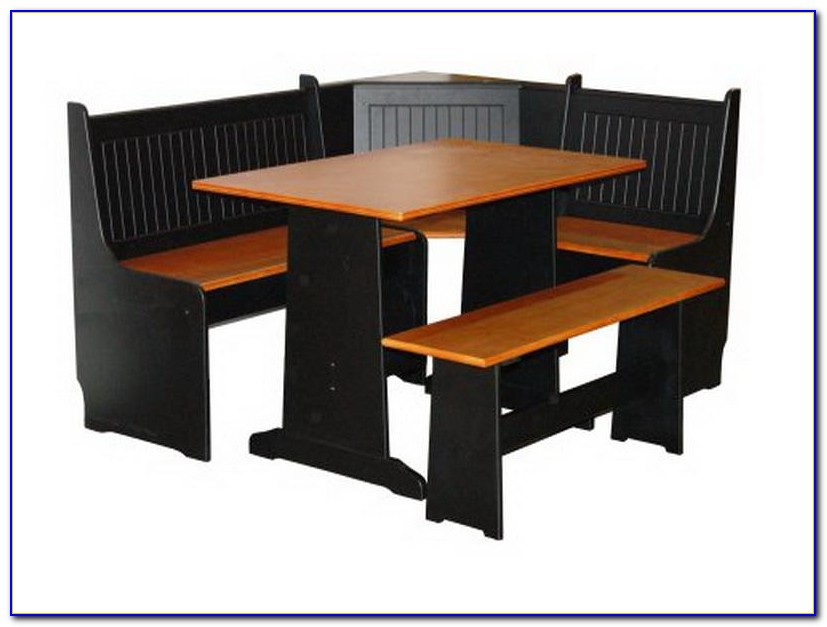 Black Corner Kitchen Table With Bench