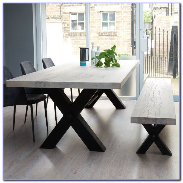 Black Wood Bench For Dining Table